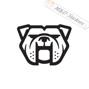 2x Bulldog Dog Vinyl Decal Sticker Different colors & size for Cars/Bikes/Windows