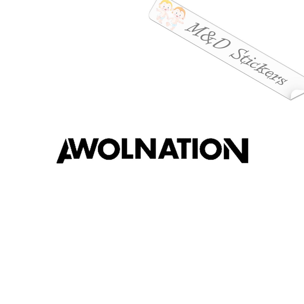 2x Awolnation Logo Vinyl Decal Sticker Different colors & size for Cars/Bike