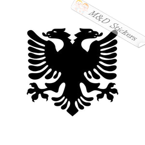 2x Albanian Flag eagle Vinyl Decal Sticker Different colors & size for Cars/Bikes/Windows