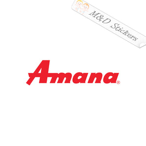 2x Amana Logo Vinyl Decal Sticker Different colors & size for Cars/Bikes/Windows