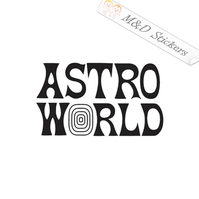 2x Astro World Travis Scott Music Festival Vinyl Decal Sticker Different colors & size for Cars/Bikes/Windows