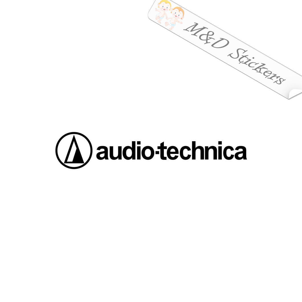 2x Audio Technica Vinyl Decal Sticker Different colors & size for Cars/Bikes/Windows