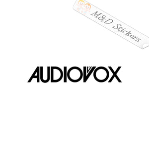 2x Audiovox Vinyl Decal Sticker Different colors & size for Cars/Bikes/Windows