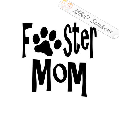 2x Foster Mom Paw Vinyl Decal Sticker Different colors & size for Cars/Bikes/Windows