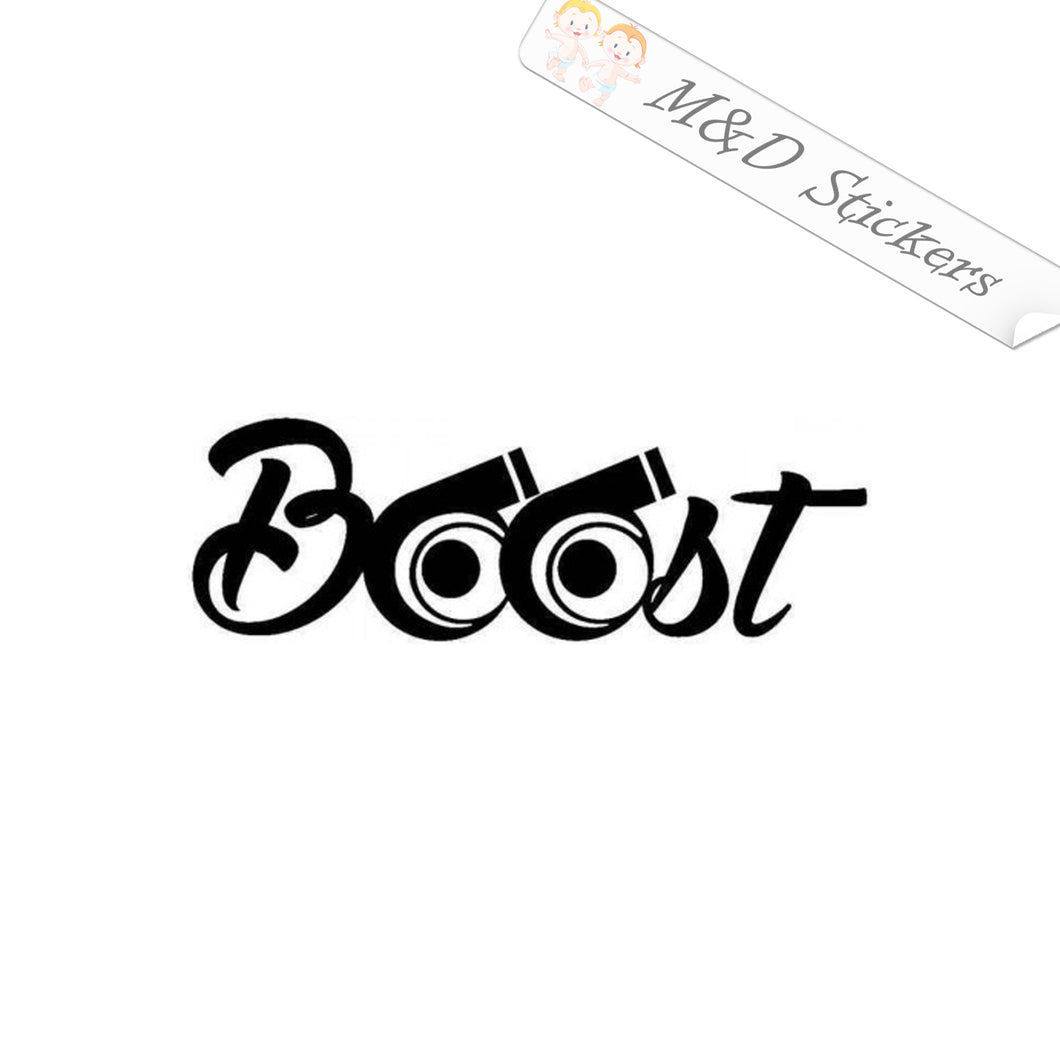 2x Turbo Boost Vinyl Decal Sticker Different colors & size for Cars/Bikes/Windows