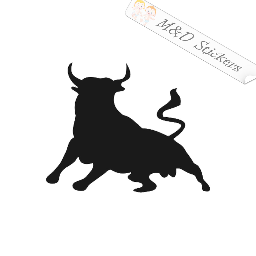 2x Spanish Bull Toro Vinyl Decal Sticker Different colors & size for Cars/Bikes/Windows