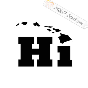 2x Hawaiian islands Decal Sticker Different colors & size for Cars/Bikes/Windows