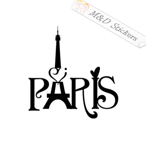 2x Paris France Vinyl Decal Sticker Different colors & size for Cars/Bikes/Windows