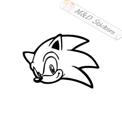 2x Sonic the Hedgehog Video Game Vinyl Decal Sticker Different colors & size for Cars/Bikes/Windows