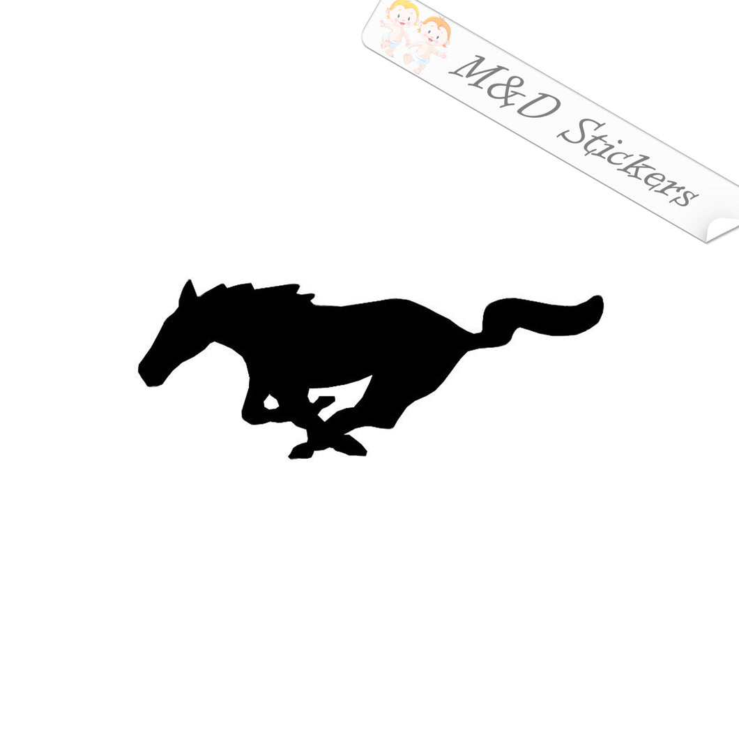2x Mustang Running Horse Vinyl Decal Sticker Different colors & size for Cars/Bikes/Windows