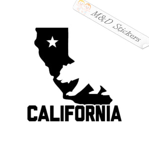 2x California Bear State Borders Vinyl Decal Sticker Different colors & size for Cars/Bikes/Windows