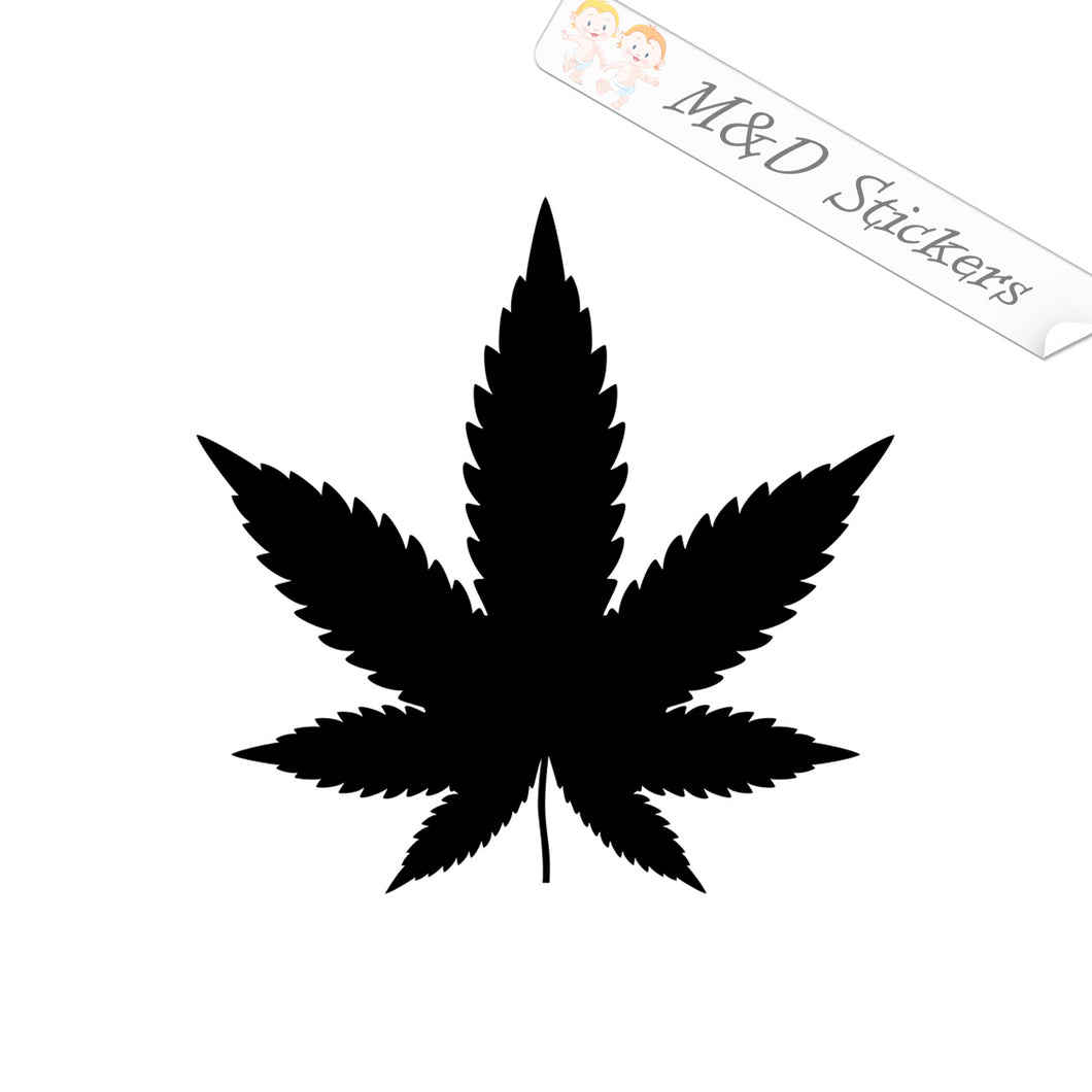 2x Cannabis Vinyl Decal Sticker Different colors & size for Cars/Bikes/Windows