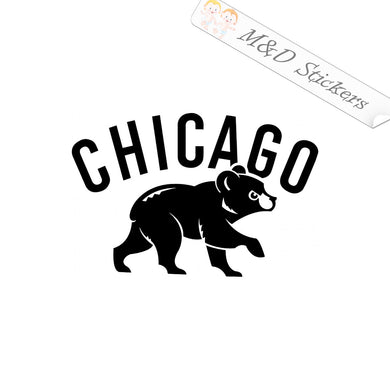 2x Chicago Cubs Vinyl Decal Sticker Different colors & size for Cars/Bikes/Windows