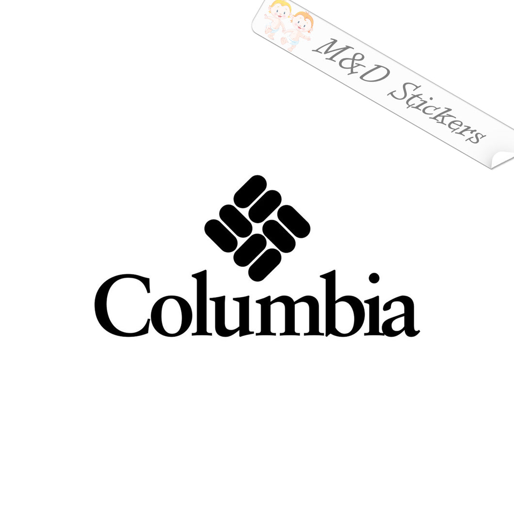 2x Columbia Logo Vinyl Decal Sticker Different colors & size for Cars/Bikes/Windows