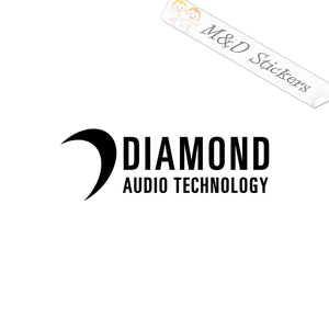 2x Diamond Audio Vinyl Decal Sticker Different colors & size for Cars/Bikes/Windows
