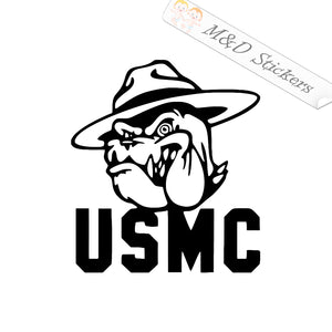 2x USMC Marines Vinyl Decal Sticker Different colors & size for Cars/Bikes/Windows