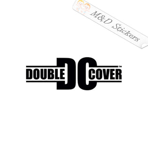 2x Double Cover truck caps Vinyl Decal Sticker Different colors & size for Cars/Bikes/Windows