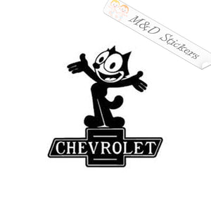 2x Felix the Cat Chevrolet Vinyl Decal Sticker Different colors & size for Cars/Bikes/Windows