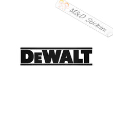 2x DeWalt Logo Vinyl Decal Sticker Different colors & size for Cars/Bikes/Windows