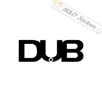2x dub Vinyl Decal Sticker Different colors & size for Cars/Bikes/Windows