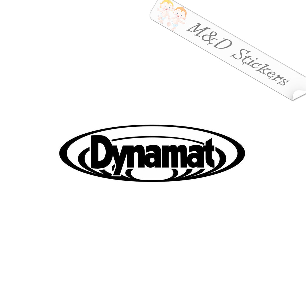 2x Dynamat Vinyl Decal Sticker Different colors & size for Cars/Bikes/Windows