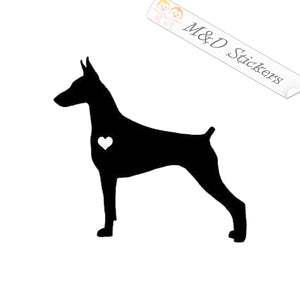 2x Doberman Dog Vinyl Decal Sticker Different colors & size for Cars/Bikes/Windows