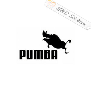 2x Funny Jumping Pumba Logo Vinyl Decal Sticker Different colors & size for Cars/Bikes/Windows