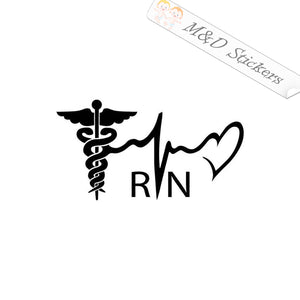 2x Pulse Nurse RN Vinyl Decal Sticker Different colors & size for Cars/Bikes/Windows