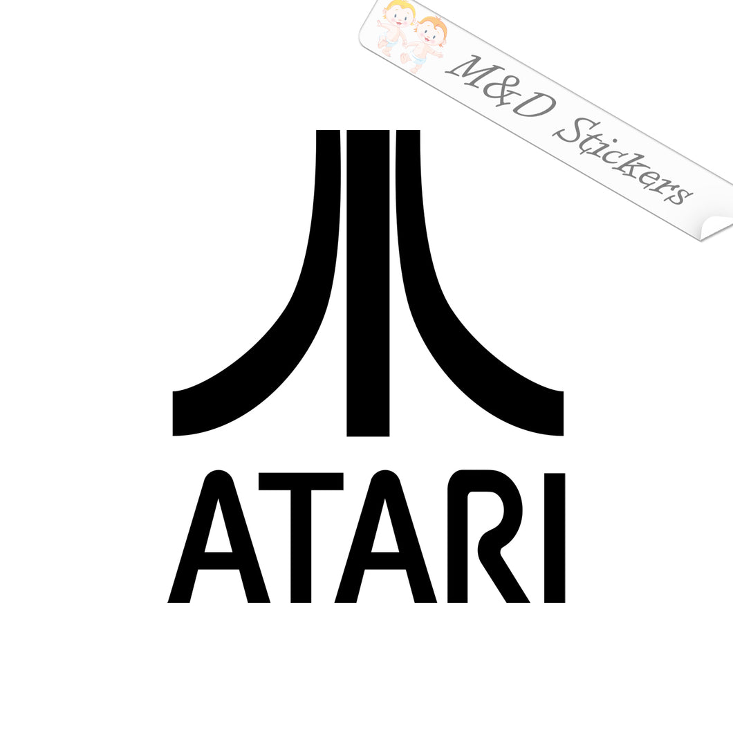 2x Atari Video Game Company Vinyl Decal Sticker Different colors & size for Cars/Bikes/Windows