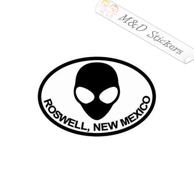 2x Alien Roswell New Mexico Vinyl Decal Sticker Different colors & size for Cars/Bikes/Windows