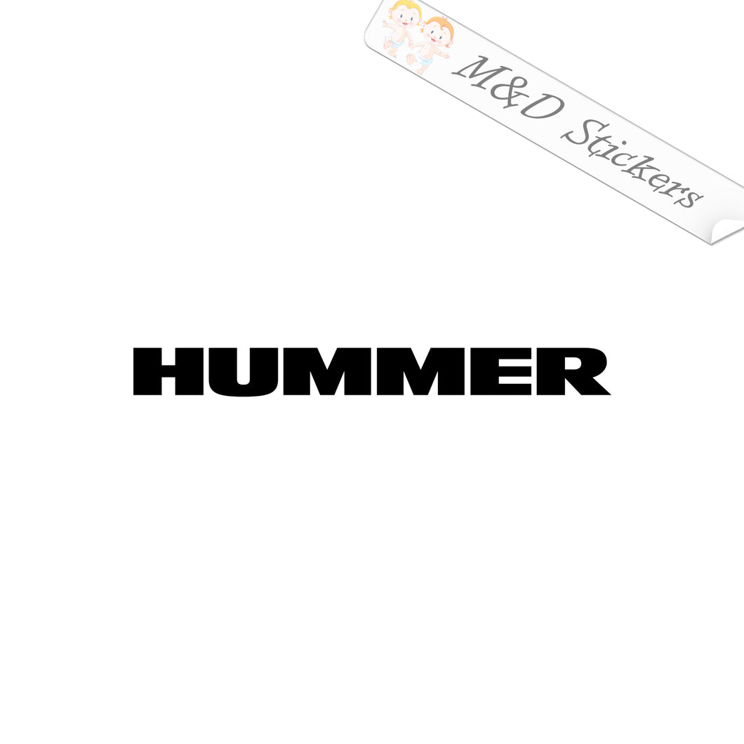 2x Hummer Logo Vinyl Decal Sticker Different colors & size for Cars/Bikes/Windows