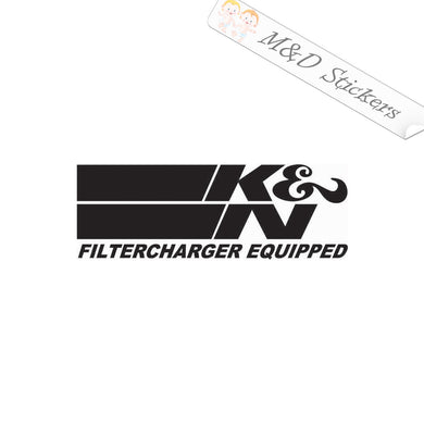 2x K&N filters Vinyl Decal Sticker Different colors & size for Cars/Bikes/Windows