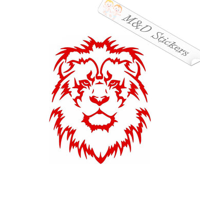 2x Lion head Vinyl Decal Sticker Different colors & size for Cars/Bikes/Windows