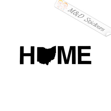 2x Ohio Shape Home Vinyl Decal Sticker Different colors & size for Cars/Bikes/Windows
