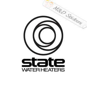 2x State water heaters Logo Vinyl Decal Sticker Different colors & size for Cars/Bikes/Windows