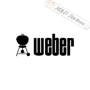 2x Weber grill Logo Vinyl Decal Sticker Different colors & size for Cars/Bikes/Windows