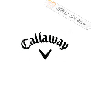 2x Callaway Golf Logo Vinyl Decal Sticker Different colors & size for Cars/Bikes/Windows