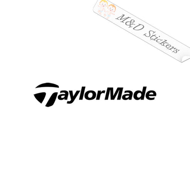 2x TaylorMade Golf Logo Vinyl Decal Sticker Different colors & size for Cars/Bikes/Windows