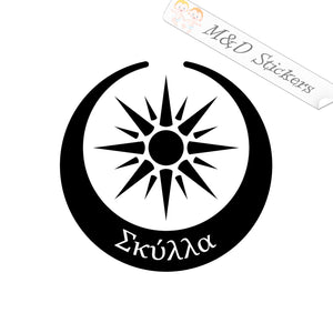 2x Macedonian Flag Vergina sun Vinyl Decal Sticker Different colors & size for Cars/Bikes/Windows