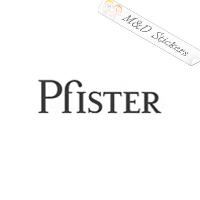 2x Pfister Logo Vinyl Decal Sticker Different colors & size for Cars/Bikes/Windows