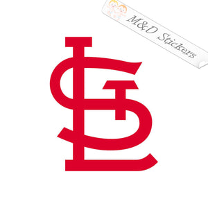 2x St. Louis Cardinals logo Vinyl Decal Sticker Different colors & size for Cars/Bikes/Windows