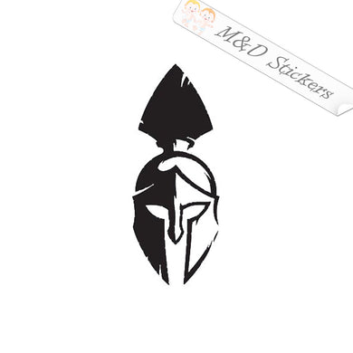 2x Spartan Helmet Vinyl Decal Sticker Different colors & size for Cars/Bikes/Windows