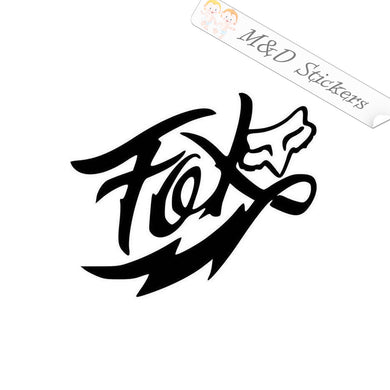 2x Fox Racing Logo Vinyl Decal Sticker Different colors & size for Cars/Bikes/Windows