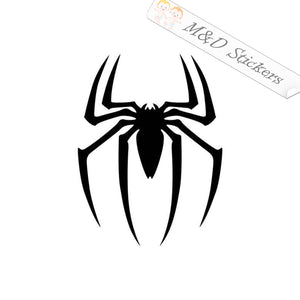 2x Spider man Vinyl Decal Sticker Different colors & size for Cars/Bikes/Windows