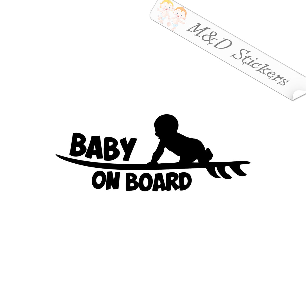 2x Baby on board Vinyl Decal Sticker Different colors & size for Cars/Bikes/Windows