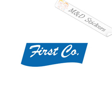 2x First Co Logo Vinyl Decal Sticker Different colors & size for Cars/Bikes/Windows