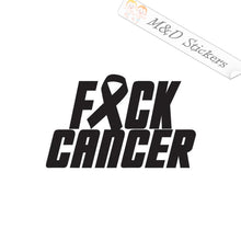 2x Fuck Fck F*ck Cancer Vinyl Decal Sticker Different colors & size for Cars/Bikes/Windows