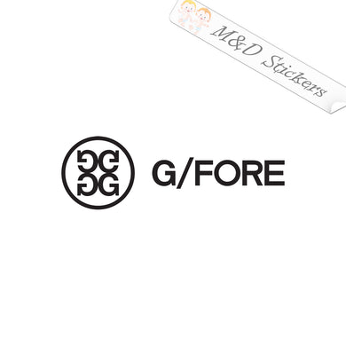 2x G Fore Golf Logo Vinyl Decal Sticker Different colors & size for Cars/Bikes/Windows