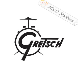 2x Gretsch musical instruments manufacturers logo Vinyl Decal Sticker Different colors & size for Cars/Bikes/Windows