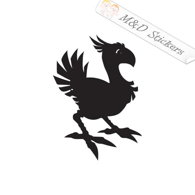 2x Chocobo Final Fantasy Video Game Vinyl Decal Sticker Different colors & size for Cars/Bikes/Windows